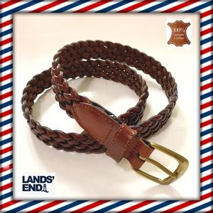 NWOT Braided Leather Belt